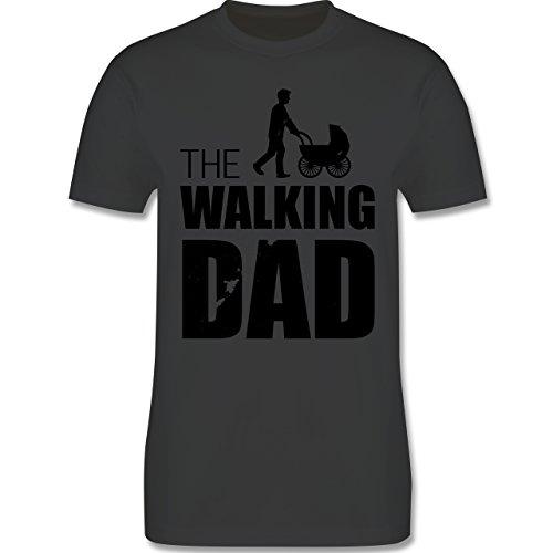 Shirtracer Vatertag - The Walking Dad - Herren T-Shirt Rundhals Dunkelgrau