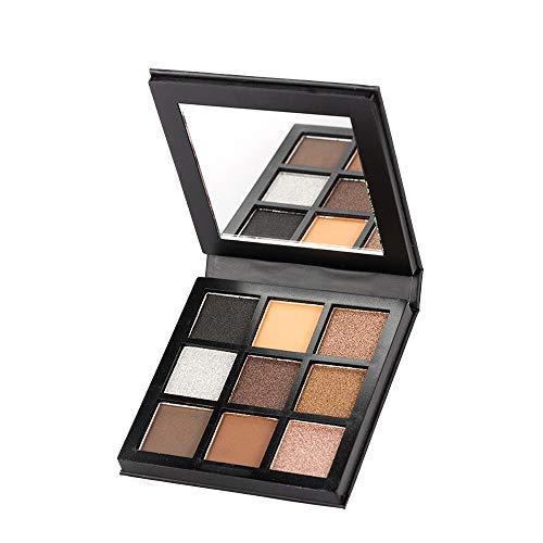 Palette fard à paupières, LHWY Ombre à paupières Ombre à paupières mat cosmétique crème palette de maquillage Shimmer Set 9 couleurs fard à paupières
