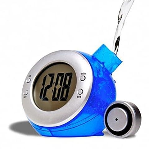 Réveil à Eau Globe 4 en 1 - Heure, date, thermomètre et alarme