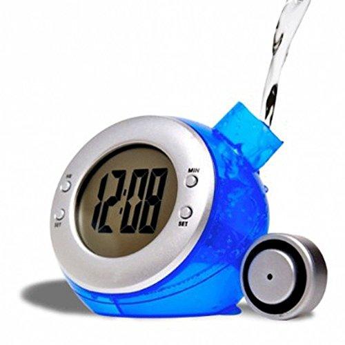 Radiowecker Wasser (Wasserbetriebener Wecker 4 in 1 - Uhrzeit, Datum, Thermometer und Wecker)