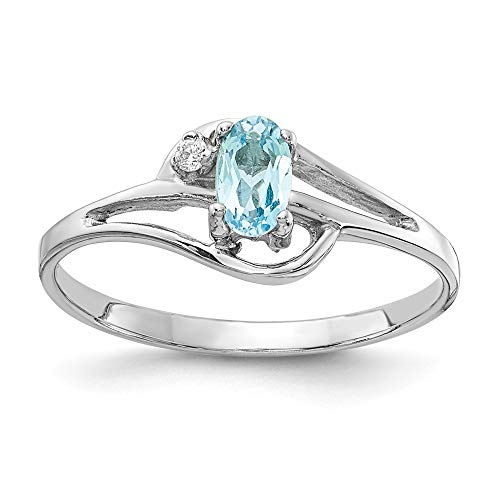 lue Topaz Diamond Ring ()