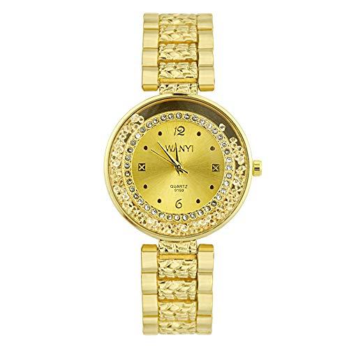 Knowin Damen Uhren Armbanduhr, Silber Western Style Rechteck Gesicht Verziert Armband Uhr Edelstahl Anhängern Vintage Design mit Rundes Zifferblatt Classic Casual Armbanduhr