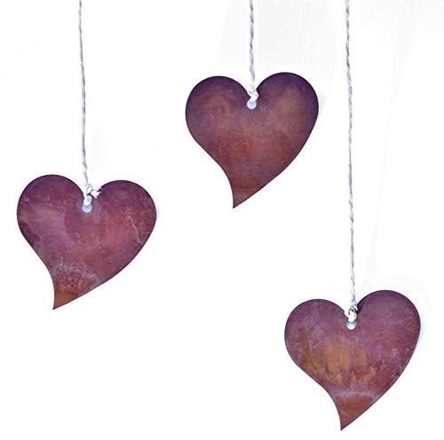 Patine Déco Cœur à suspendre, Idée cadeau Avec Coeur En Jeu Lot De 12