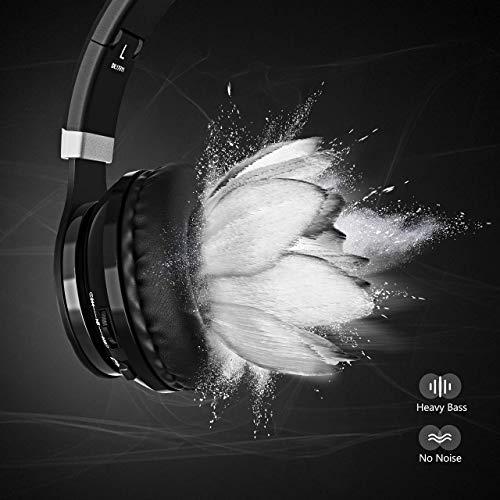 OMORC Bluetooth Cuffie Stereo Waver Wireless Headphones Pieghevole Over-Ear  Bluetooth 4.0 Auricolari Microfono Ricaricabile Funziona 8 Ore 8d658271aab3