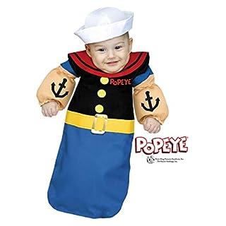 Horror-Shop Lizenziertes Popeye der Seemann Babysack Kostüm für Fasching One Size