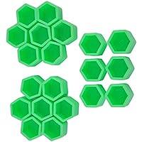 Funnyrunstore Green 20 Pcs 17/19 / 21mm Silicona Hollow Hexagonal Wheel Hub Screw Cover Car Styling Decoración Protección (21#)