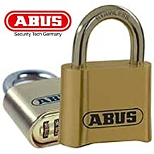 Abus 33304–Candado numérico, 50mm, color dorado