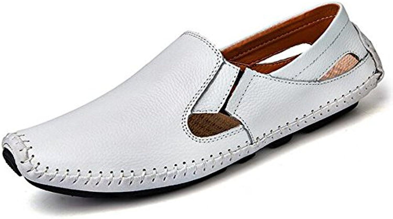GSHE Shoes Mocasines De Conducción De Cuero Suave De Los Hombres Mocasines Planos Ocasionales del Resbalón del...