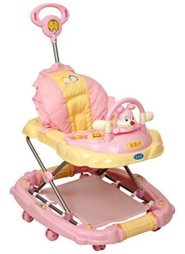 Musical Baby Walker Cum Rocker With Toy Rabbit Pink- 3290E