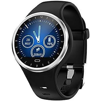 Smartwatch reloj inteligente, Pulsera deportiva Impermeable IP68 Reloj Deportivo para Fitness Frecuencia Cardíaca Medición de la Presión Arterial ...