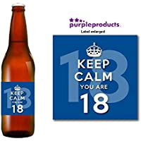 Azzurro Keep Calm you are 18 Happy 18th
