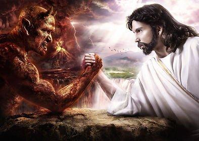 Jesus und der Teufel–Arm (Satin Der Teufel)