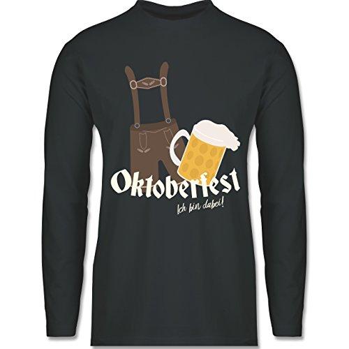 Oktoberfest Herren - Oktoberfest - Ich bin dabei! - Longsleeve / langärmeliges T-Shirt für Herren Anthrazit