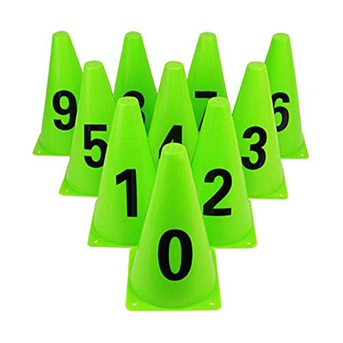 Ganmaov 10PCS Sports Training Cones - Kunststoff Sporttraining Verkehrshütchen - Durable Plastic - Vielseitig - Ideal für Fußball, Fußball, Sporttraining, Spiele - Für Jogging Agility vividly -