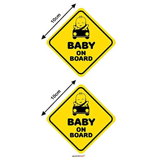 Autodomy Pegatinas Baby On Board Bebé Bordo Baby