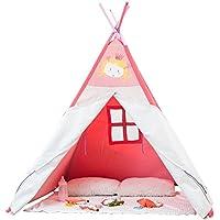 Labebe Kids Tepee/playhouse / play tent para bebés y niños Toddler, extra grande de 4 'con madera maciza y material de lona, ideal para jugar en grupo dentro y fuera de la casa, fácil de limpiar