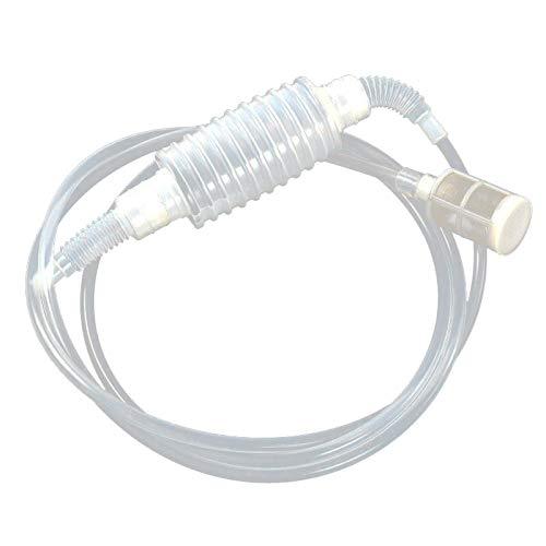 SO-buts Wein Stroh Filter ❂ Wein Filter ❂ Vakuum Ablaufreiniger Siphon Pump Bucket Barrel Reinigungswerkzeug (Weiß) -