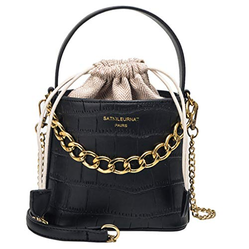 Damen Umhängetasche Shoulder Bag Handtasche Schultertasche Satchel Schulter handbag Rucksack,Serpentin Leder Crossbody Taschen Messenger Bucket Bag Griff Tasche