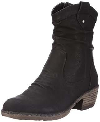 Rieker 93770, Damen Halbschaft Cowboystiefel, Schwarz (schwarz/00), 36 EU (3.5 Damen UK)