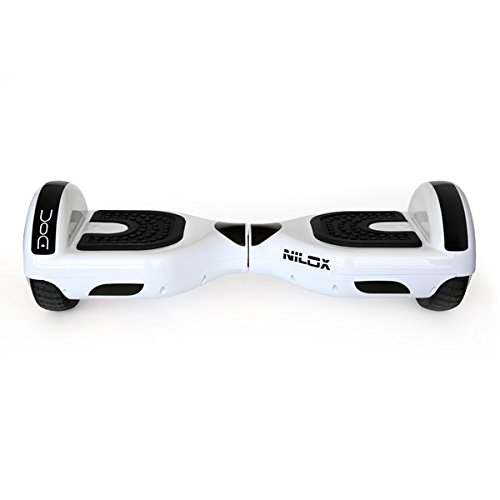 Nilox Hoverboard, Unisex Adulto, Blanco, 25.7 x 28 x 65.5
