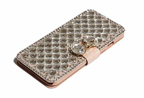 iPhone 6Plus/6S Plus Fall, Handwerk von jabit Luxus Bling Strass Wallet Schutzhülle Ultrathin magnetischem Ständer Leder Buch Kristall Schutzhülle 3Farben, Rose Gold