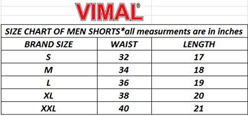 Vimal Men's Cotton & Crush Shorts (Metallic Colour, Small Size)