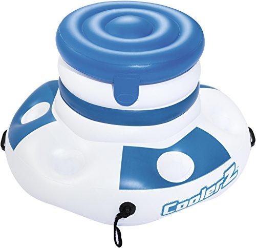 Bestway 43117 - frigo portabicchieri gonfiabile coolerz, 70 cm, blu/bianco