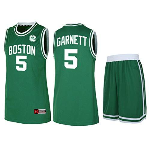Z-ZFY Männer Frauen NBA Jersey -Boston Celtics # 5 Kevin Garnett Kleidung Klassisches Ärmel Kinder Top T-Shirt,5xl190cm/90~100kg
