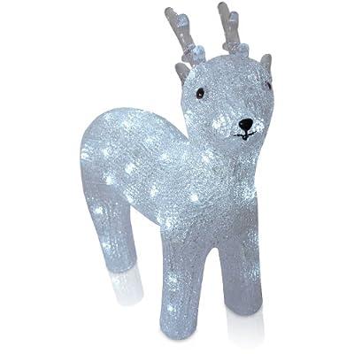 Beleuchtetes LED Rentier aus Acryl Acrylfigur Aussen & Innen Höhe: 34cm Lichteffekte Weihnachtsbeleuchtung Weihnachtsdekoration von Multistore 2002 bei Lampenhans.de