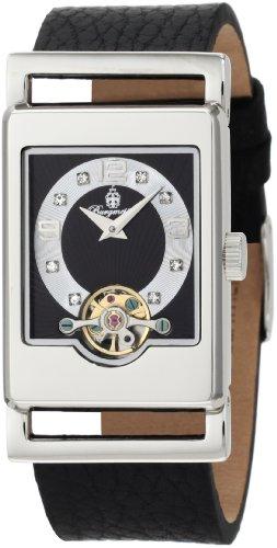 Burgmeister Armbanduhr für Damen mit Analog Anzeige, Automatik-Uhr und Lederarmband - Wasserdichte Damenuhr mit zeitlosem, schickem Design - klassische, elegante Uhr für Frauen - BM510-122 Delft