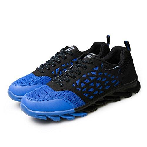 Men's Lace Up Breathable Trainers Shoes blue