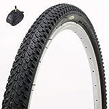 Fincci MTB Mountain Hybrid Bike Fahrrad Reifen 26 x 2.125 57-559 und Sclaverandventil Schläuche 48mm