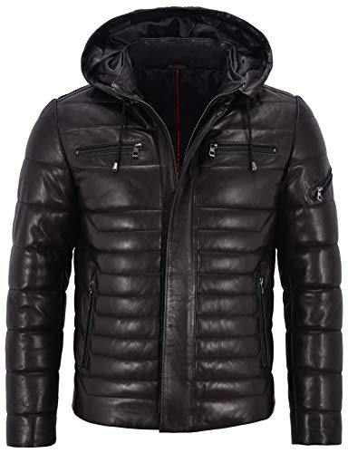 Smart Range Leather Co Ltd. Herren Echtleder Jacke Puffer 100% Lammfell komplett gesteppt Design 2006 (L for Chest 42')