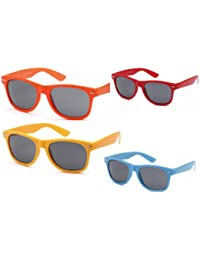 Lotto di 4-Occhiali da sole stile Wayfarer 2504 Blues Brothers BTLms6z3QM