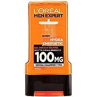 L'Oréal Paris Men Expert Hydra Energetic Gel Doccia Uomo, Taurina Effetto Sveglia Immediato, 300 ml