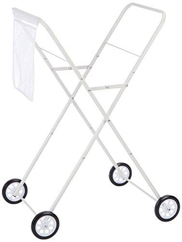 Daily Waschkorb Trolley, Metall, weiß, 53 x
