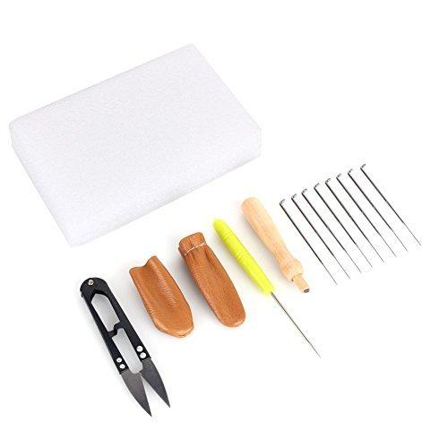 Kit de costura Yosoo para fieltro con aguja. Kit para reparación con alfombrilla, tijeras, protectores de dedos.