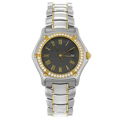 1911 Ebel 1087911/5260 P 18 K de oro y un reloj de cuarzo de acero de los hombres