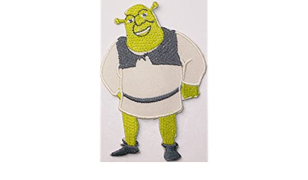 Shrek Cartoon Greats Off White /& Green 9 x 6cm Embroidered Sew or Iron on Badge