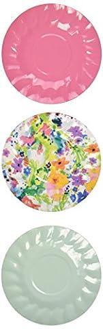 Talking Tables Mini décorations Parti Assiette canapés, en microfibre, multicolore,