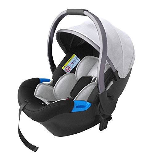 knorr-baby 860672 Babyschale For You, blau-silber