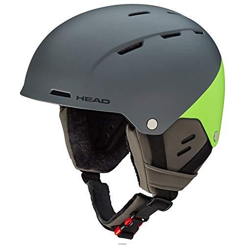 Head - Casco da Sci Unisex per Adulti Trex, Grigio/Verde, XS/S