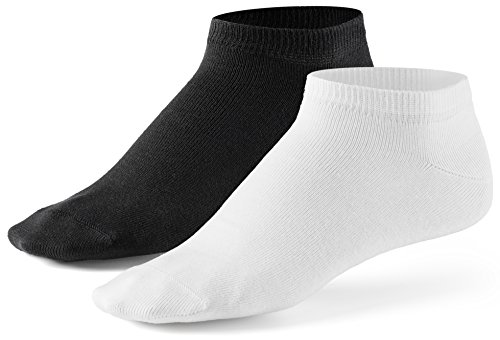 10 Paar Sneaker Socken von Mat & Vic's für Sie und Ihn | Cotton classic (35-38, schwarz weiss) | 35 36 37 38 39 40 41 42 43 44 45 46 47 48 49 50 | OEKO-TEX Standard 100 (Mädchen Socken-füßlinge)