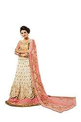 MANVAA Banglori Silk Lehenga Choli (ASMYR2440_Beige_Free Size )