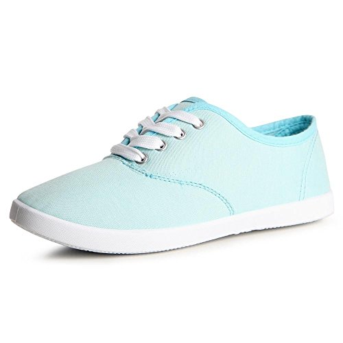 Topschuhe24 837 Mulheres Sneaker Sneakers Luz Azul
