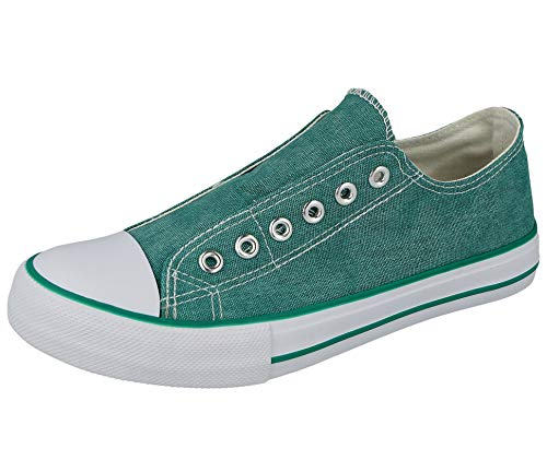 No Sense Ladies Mens Boys 625801 Canvas Slip On Elastic Eyelet Pumps All Star Sneakers Trainers Shoes Size 3-9