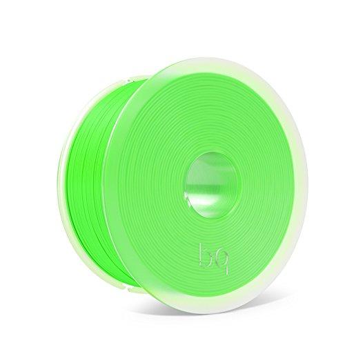 BQ Easy Go - Filamento de 1.75 mm (100 {f98c54ba1278a286cd10ce6b13d1d8be1706888705799ed0edeada6a18aa23f5} PLA, resistente a la acetona, rápido endurecimiento), color verde fluorescente
