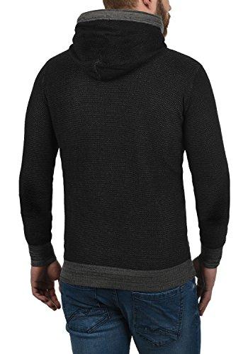 SOLID Raekwon Herren Kapuzenpullover Hoodie Sweatshirt aus hochwertigem Baumwollmaterial Black (9000)