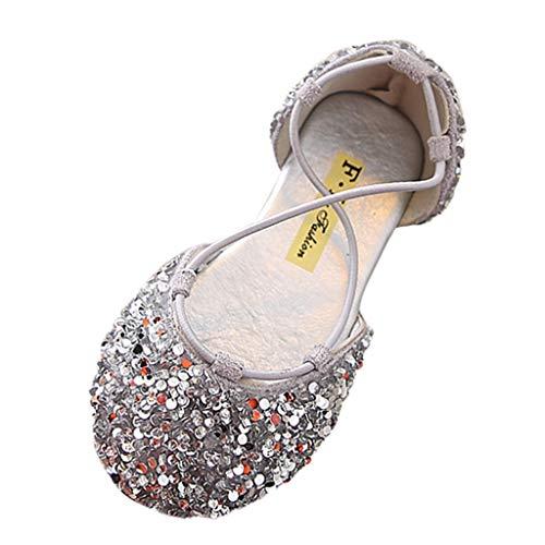 Patifia Kinder Mädchen Schuhe Kleinkind Infant Baby Mädchen Kristall Bling Leder Einzelne Schuhe Party Prinzessin Sandalen Sommer Geschlossene Zehe Lauflernschuhe Rosa Rib-infant Bodysuit