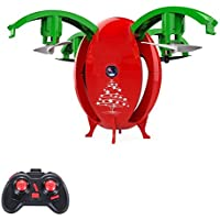 Price comparsion for RC Mini Drone With Altitude Hold And Headless Mode 4-Axis Gyro Pocket Quadcopter With One-Button 360° Flip And LED Light For Kids And Beginners,Red